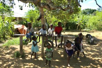 Children Playing in the Ecovillage