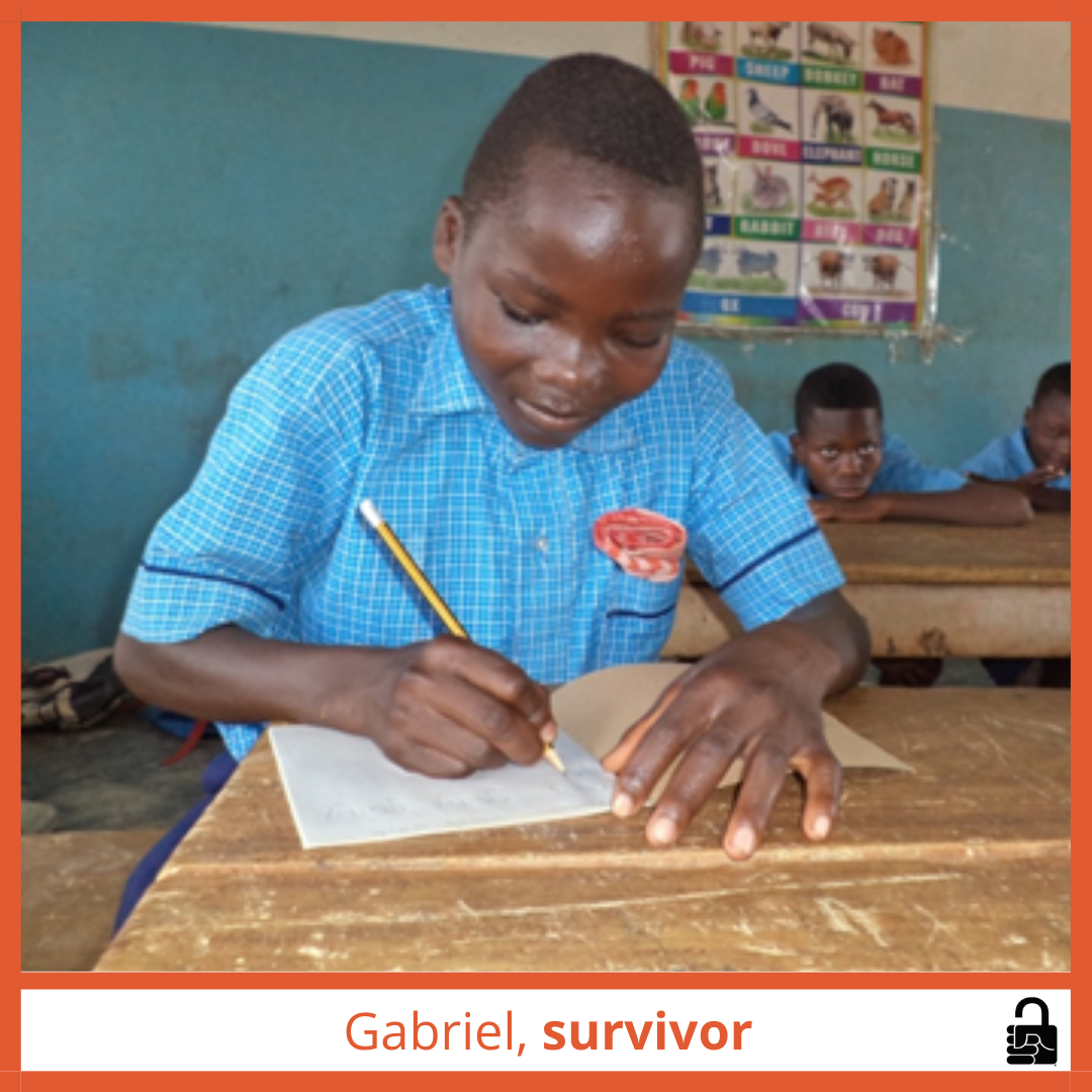Gabriel is Now in School Instead of Slavery